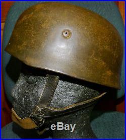 WW2 German Helmet M38 Paratrooper Fallschirmjäger with Leather Liner