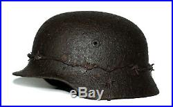 WW2 German Helmet M40 Size 68. The Battle for Stalingrad. World War II Relic