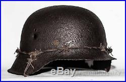 WW2 German Helmet M42 Size 64. The Battle for Stalingrad. 2 WK. Relic Rare