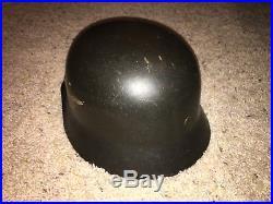 WW2 German Helmet, Original Condition With Liner