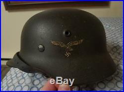 WW2 German Helmet Q66 TOP SHELF HELMET