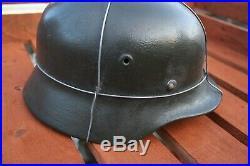 WW2 German Helmet Quist Q68. Original Shell (+ a liner and a strap.)