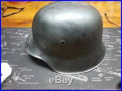 WW2 German Helmet World War II Model 42, removed decal