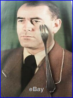 WW2 German Hitler Albert Speer Fork Obersalzberg Berghof Eva Braun Helmet