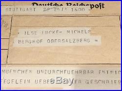 WW2 German Hitler Berghof Telegram Ilse Eva Braun Obersalzberg No Helmet