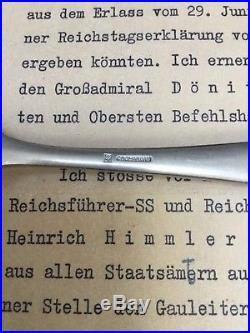 WW2 German Hitler Fork Himmler No Obersalzberg Berghof Eva Braun Helmet Elmetto