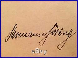 WW2 German Hitler Goring Firma Original Signature No Helmet