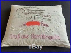 WW2 German Hitler Pillow Obersalzberg Berghof Eva Braun Platterhof Helmet