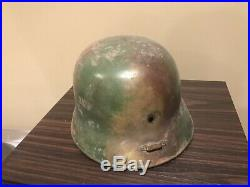 WW2 German Hungarian Helmet Original 3 Color Camoflage