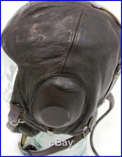 08aab558597 WW2 German LKpW101 WWII German Luftwaffe LKpW101 Leather Flying Helmet
