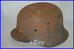 WW2 German LUFTSCHUTZ BEADED M42 HELMET. (Stahlhelm M42) marked
