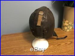 WW2 German Leather flight helmet