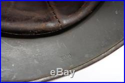 WW2 German Luftwaffe camouflage camo combat helmet lid pot shell & leather liner
