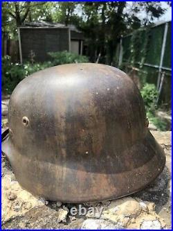 WW2 German M35 Ex Double Decal Helmet