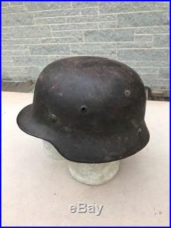 WW2 German M35 Helmet With Liner Original A24