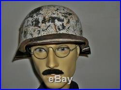 WW2 German M35 Winter / Spring Camouflage Helmet