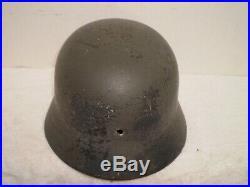 WW2 German M35 helmet, Luftwaffe stamps on liner and helmet, 1938, NS66
