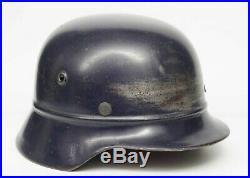 WW2 German M40 Combat Beaded Luftschutz Helmet, Complete with liner