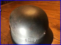 WW2 German M40 Helmet, Nice Original