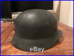 WW2 German M40 Helmet Q64 Original With Liner Complete