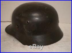 WW2 German M40 steel helmet, Q64, original paint, liner