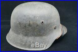 WW2 German M42 Combat Helmet & Chinstrap
