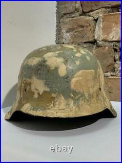 WW2 German M42 Helmet German Relics Original Restauration Size 64/66