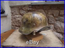 WW2 German M42 Wehrmacht Helmet Mediterranean Camo Brilliant Untouched