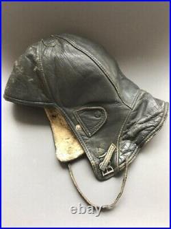 WW2 German NSFK (1930-1939) glider pilot leather helmet Luftwaffe