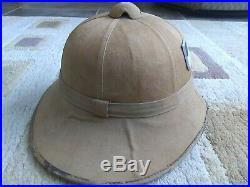 WW2 German Pith Helmet WWII DAK Afrika Corps Sun Hat Cap Original Field Gear