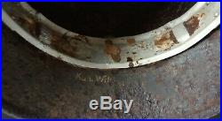 WW2 German Relic Helmet With Liner band And Owners Name Found Normandy