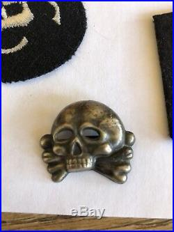 WW2 German Skull Badge A Real One Vintage World Hat Helmet Dagger Collar Tabs