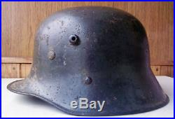 WW2 German Transitional Helmet M17/66 with liner Full Original