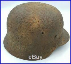 WW2 German Wehrmacht Heer M40 Solid Relic Helmet Stahlhelm Arnhem Find