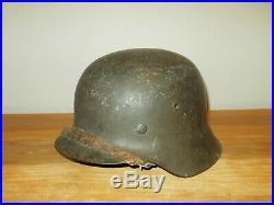 WW2 German Wehrmacht Heer M42 Stahlhelm COMBAT HELMET CHICKEN WIRE NICE