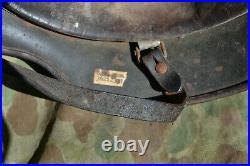 WW2 German Wehrmacht Helmet M35 100% Original Desert camo vet bring back