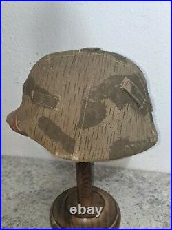 WW2 German Wehrmacht Helmet with cover, no decals, woodland mars Camo Heer