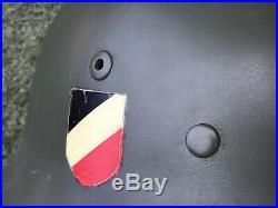 WW2 German combat helmet M35. Restored. Size 65
