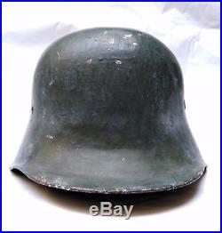 WW2 German helmet M18 rare, converted to the needs of Luftshutz completely origi