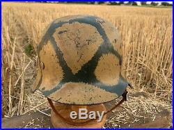 WW2 German helmet M42 64 hkp64 4323