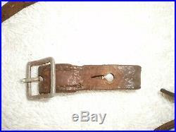 WW2 German helmet early aluminum leather chin strap