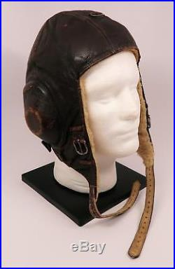 WW2 German leather flight cap Luftwaffe pilot WW1 mask helmet LKpW101 Air Force