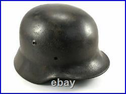 WW2 German original combat helmet M35. Size 64. Restored. Strong heavy helmet
