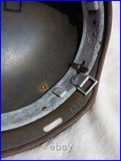 WW2 German paratrooper helmet M37 made of original M35, hand aged, paint work
