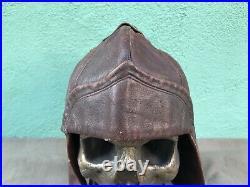 WW2 German summer leather Luftwaffe pilot's helmet