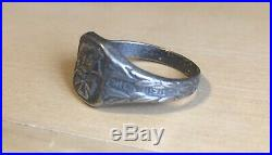 WW2 Iron Cross German Helmet Silver Ring