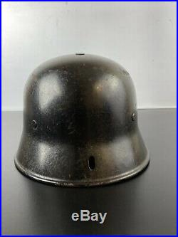 WW2 M34 German Helmet with Liner & Chinstrap WWII Named