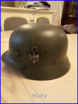 WW2 Original German M35 Heer Helmet, Double Decal