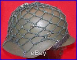 WW2 Original German Military Helmet Camouflage Net