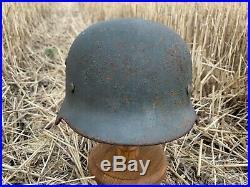 WW2 Original German helmet M35 66